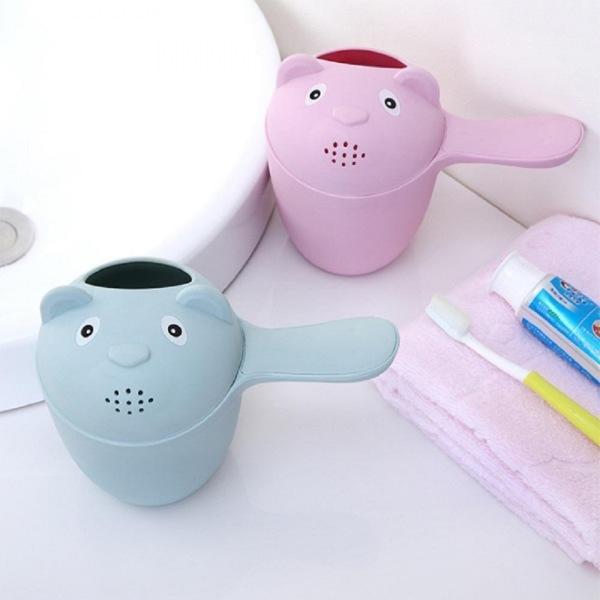 유아용 목욕 바가지 욕식대야 손잡이 물바가지