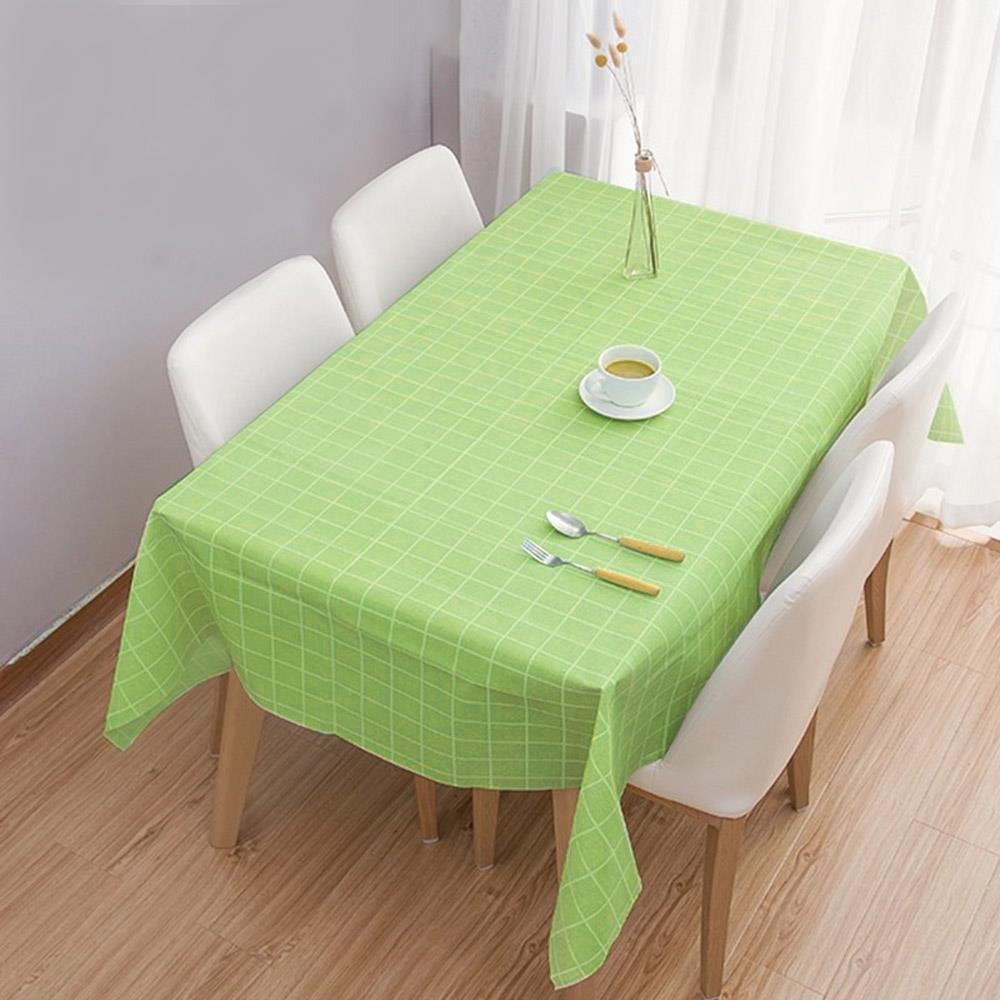 식탁보 그린 137x137cm 격자무늬 식탁테이블매트 테이블커버 식탁테이블매트 테이블매트 방수테이블보 식탁커버