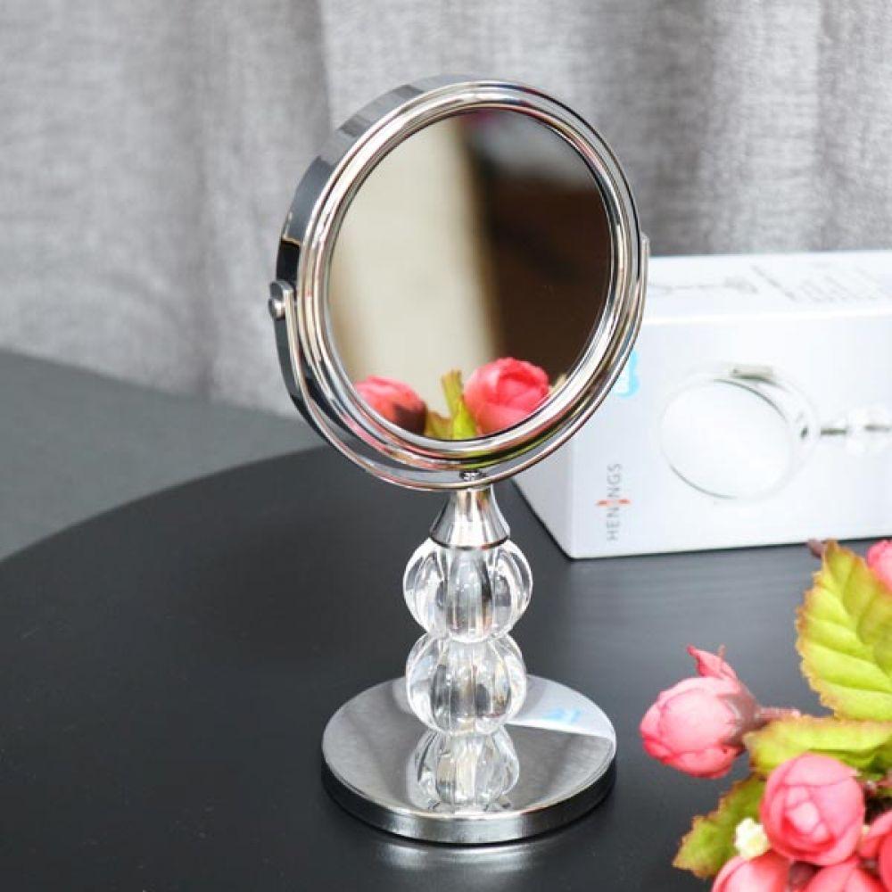 탁상거울 스탠드미러 실버 미용거울 책상용거울 거울 미용거울 화장대거울 책상용거울 탁상거울