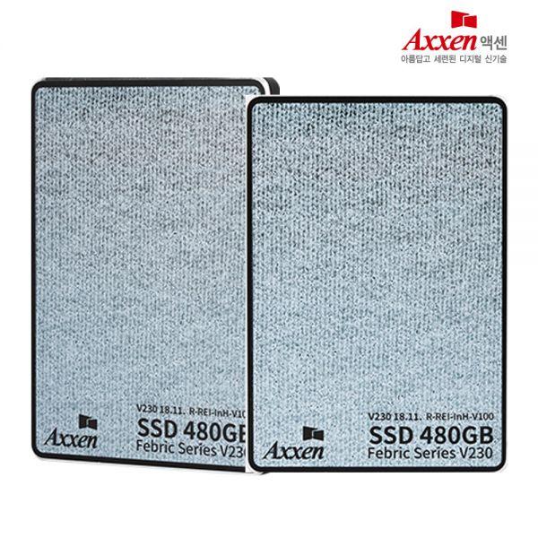 엑센 문구인쇄가능/액센 V230 SSD 480GB 3D낸드 SATA3 AXXEN SSD SSD외장하드 SSD1T 노트북SSD