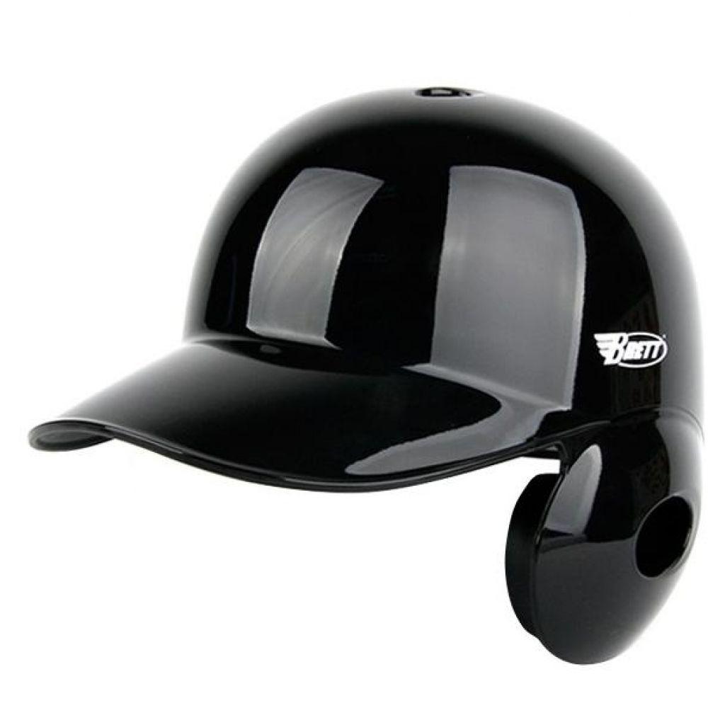우타자용 브렛 타자헬멧 유광블랙 야구헬멧 야구용품 야구헬멧 스포츠헬멧 타자헬멧 타자보호헬멧 외귀헬멧