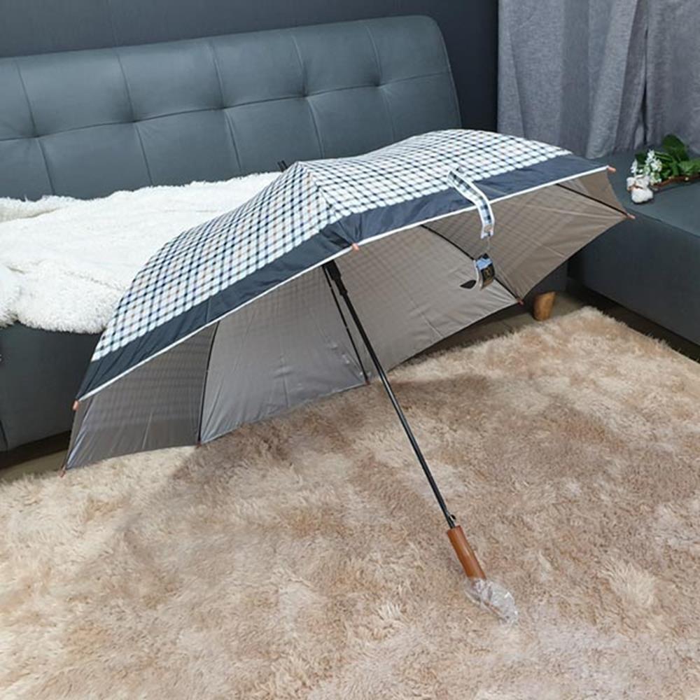 체크실버 장우산 자동 큰우산 선물용우산 남성장우산 고급우산 장우산 선물용우산 남성장우산 심플우산