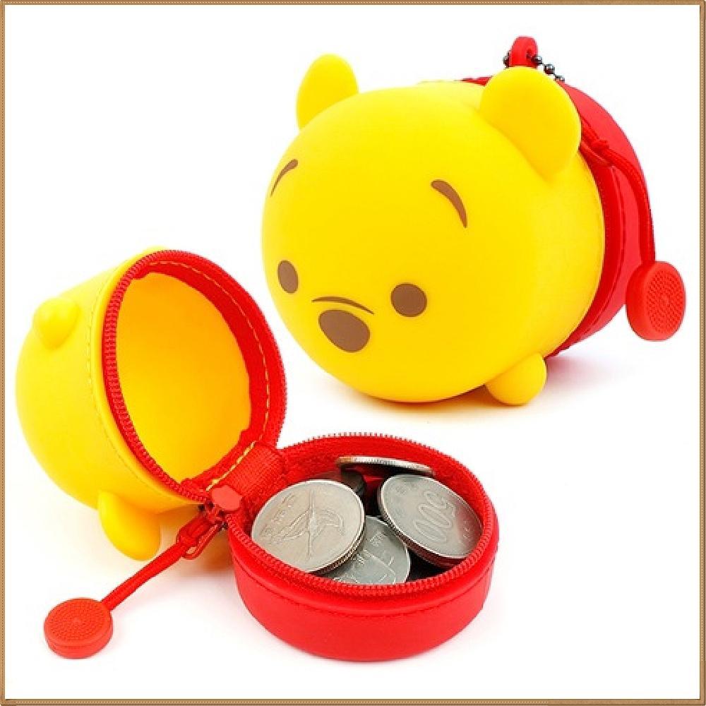 곰돌이 푸 실리콘 동전 파우치 캐릭터 캐릭터상품 생활잡화 캐릭터제품 잡화