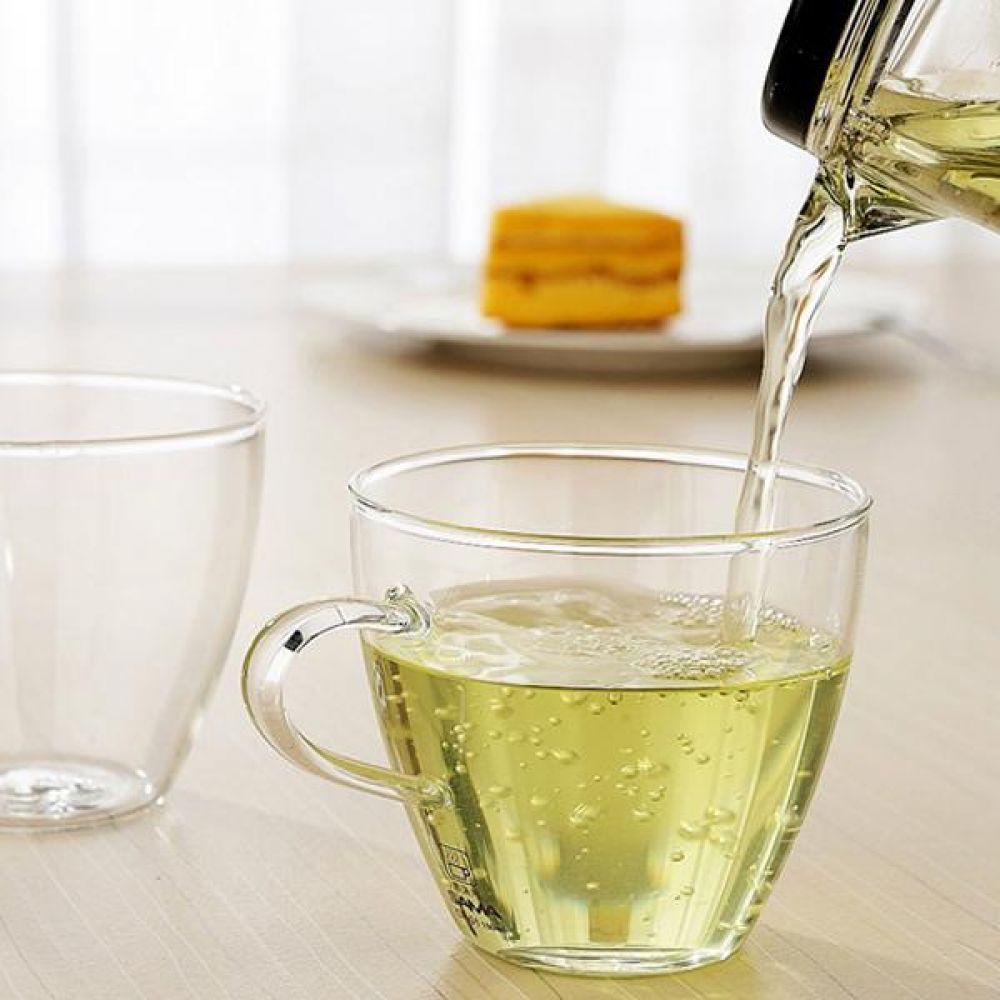 라이트킹 CP01 2p세트 명존 글라스 찻잔내열유리 차 커피 컵 잔 유리잔
