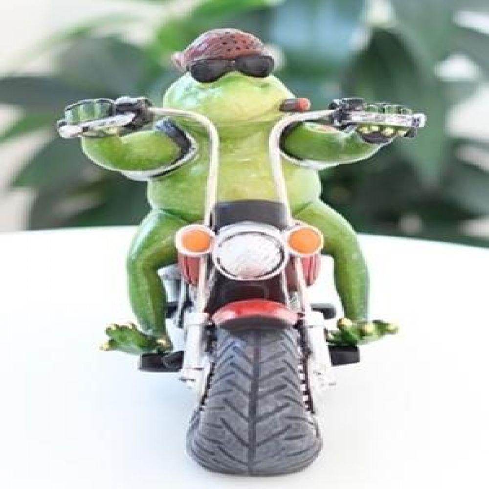 두건쓴 개구리 오토바이 마블소품 개구리소품 개구리장식품 장식인형 장식소품 인테리어소품