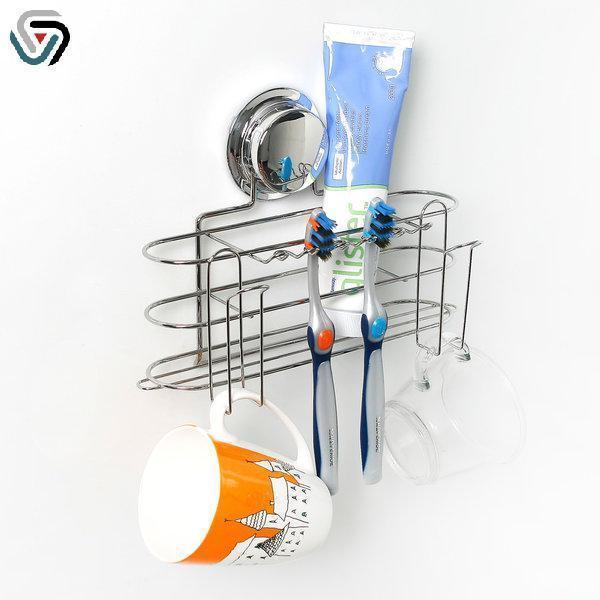 강력흡착 다기능 칫솔걸이 욕실용품 칫솔걸이 컵걸이 치약걸이 칫솔홀더 컵홀더 욕실용품