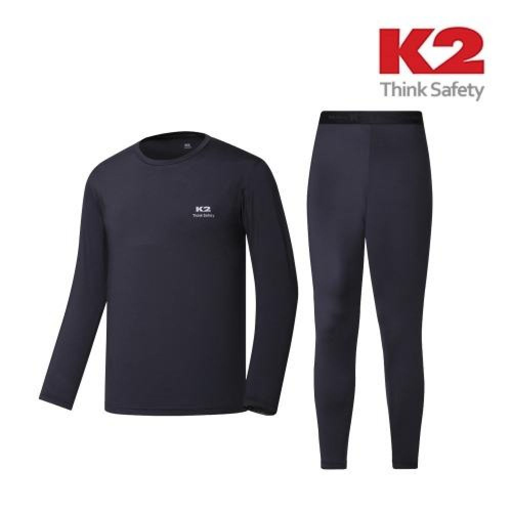 혹한의 추위에 강한 K2 에어로웜 내의세트 블랙 동계용품 방한용품 내의 내복 보온내의