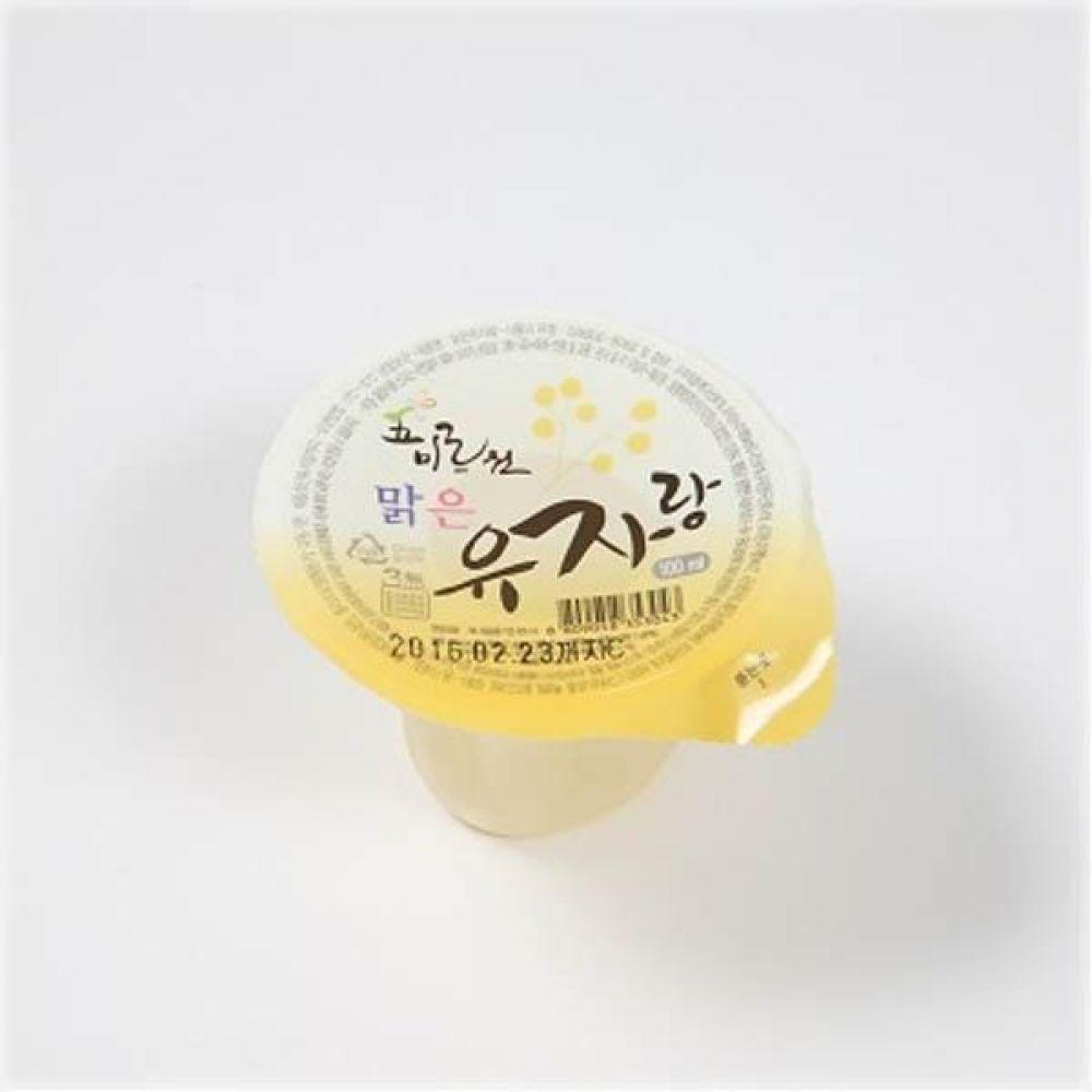 오미르원 맑은 유자랑 100ml x 100개(1box) 음료 급식 전통 주스 후식