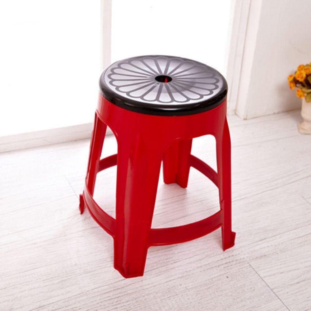 회전의자 레드 보조의자 생활용품 간이의자 의자 보조의자 생활용품 다용도의자 간이의자