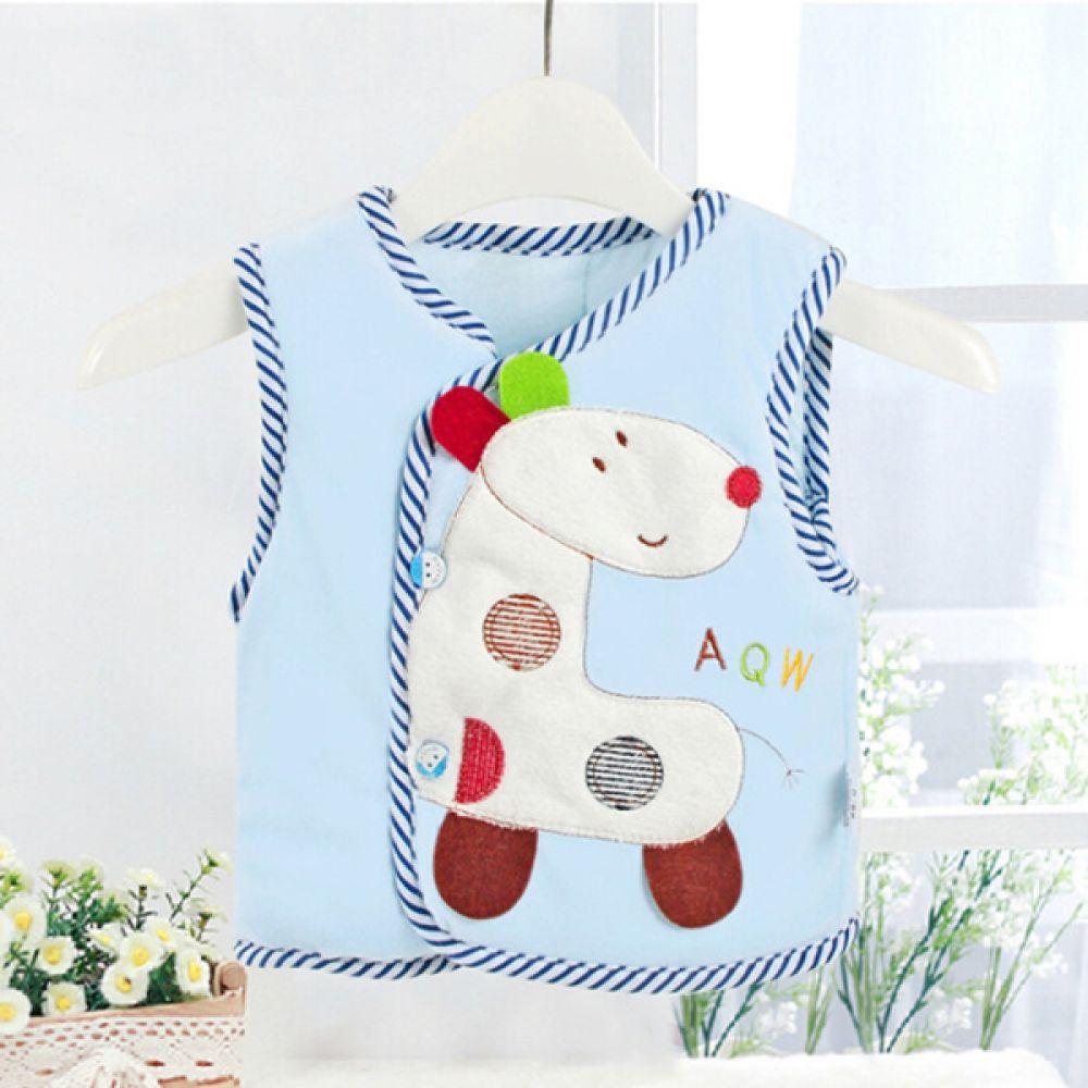 동물 캐릭터 블루 아기 조끼 202410 수면조끼 아기조끼 유아조끼 조끼 엠케이 조이멀티