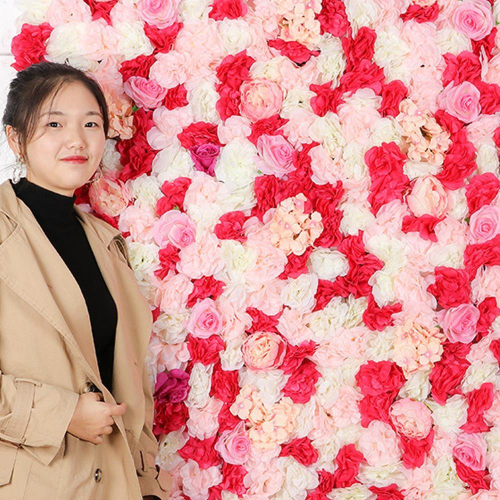 꽃장식 조화 60x40cm 믹스 벽인테리어 꽃벽 꽃매트 벽인테리어 꽃매트 조화벽장식 인테리어꽃장식 포토존만들기