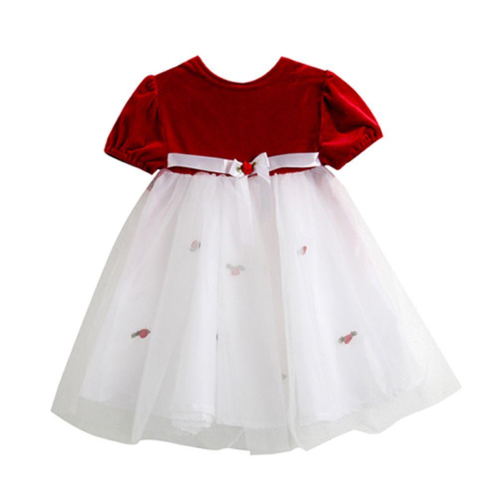 로즈 레이스 원피스 (6-12개월) 202175 원피스 아기옷 백일 돌복 외출복