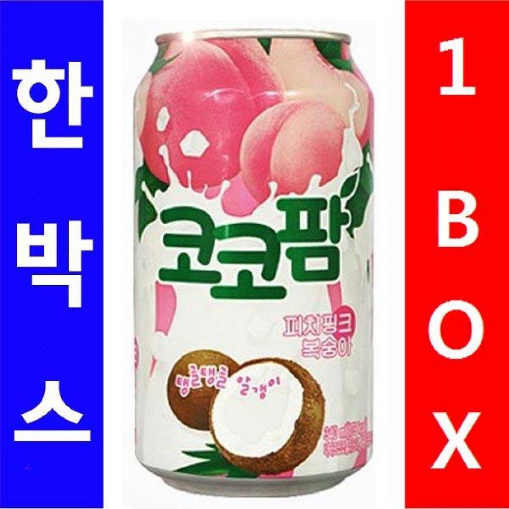 해태음료)코코팜 피치복숭아 340ml 1박스(24캔) 음료 여름 주스 차 과일 대량 도매 대량판매 세일 판매