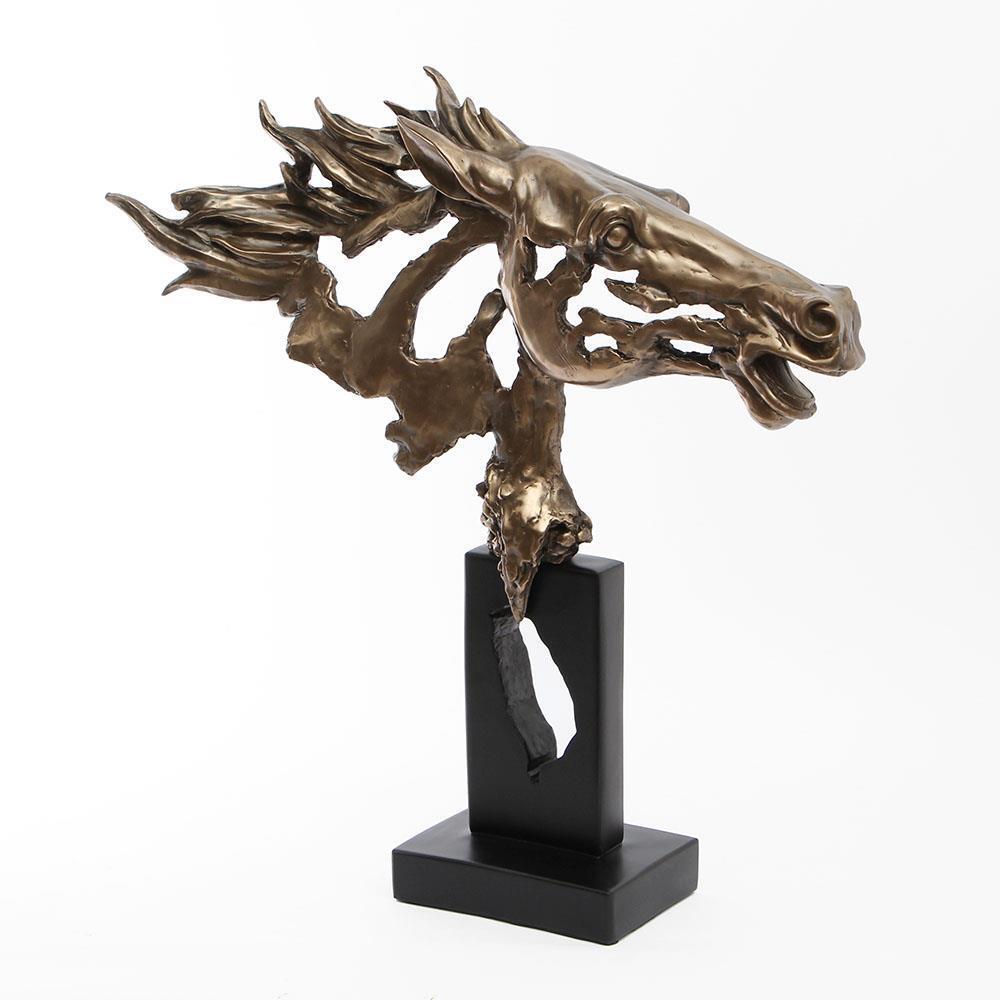 조각상 인테리어 동물조각상 말머리 말조각상 엔틱조각상 인테리어장식품 인테리어소품 말조각품 엔틱소품