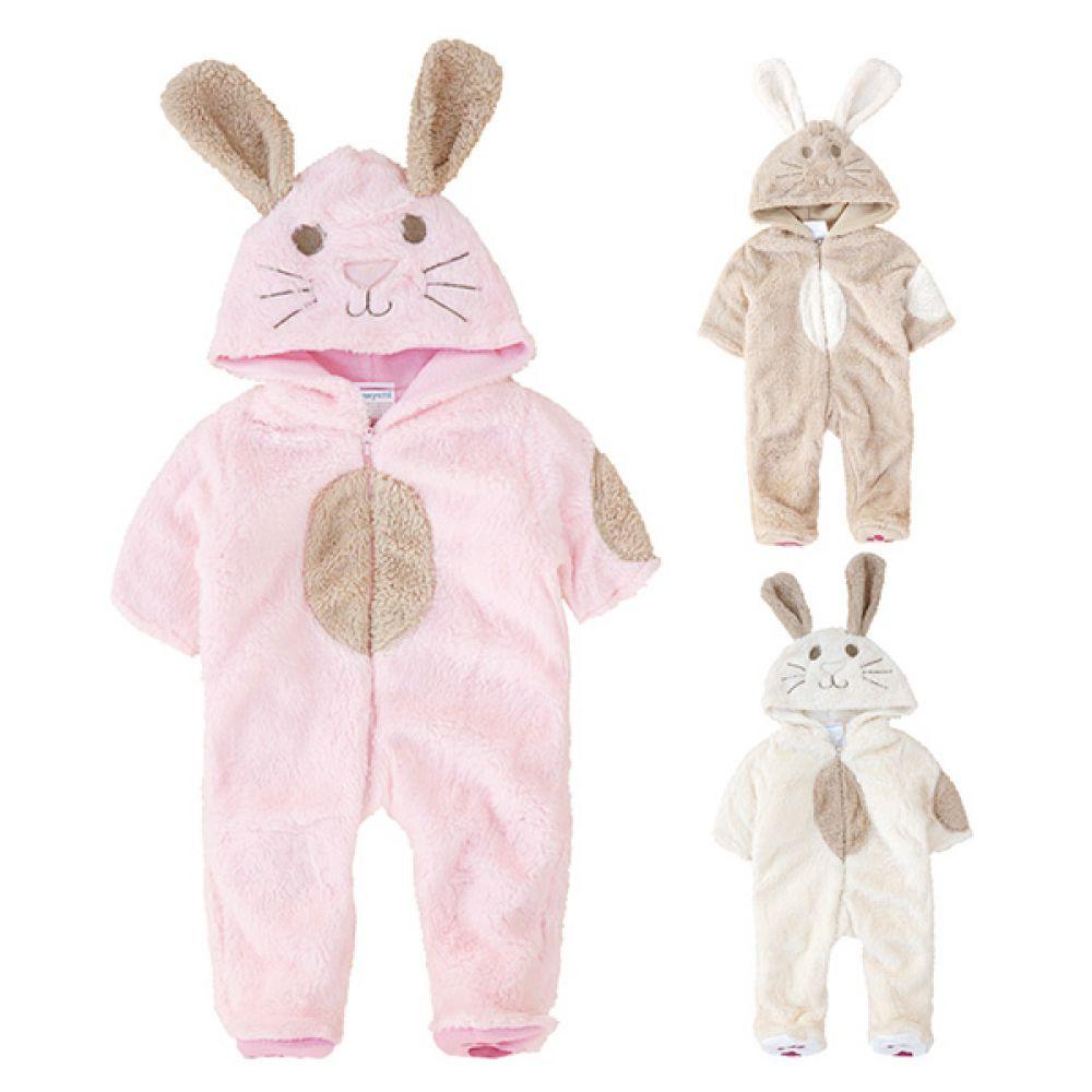 토끼후드 발싸개우주복 (0-18개월) 300153 아기우주복 유아우주복 신생아외출복 겨울우주복 기모우주복 신생아옷 조이멀티