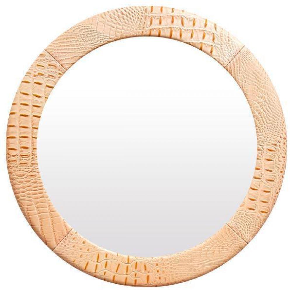 IG7323 가죽 벽거울 31cm 살구색 제조한국 벽거울 가죽거울 레더거울 원목거울 인테리어거울