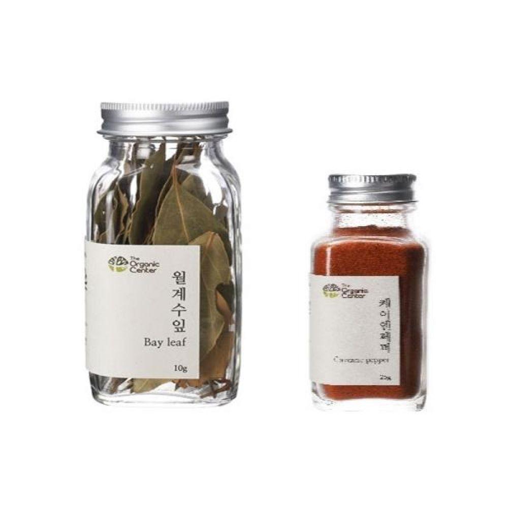 (오가닉 향신료 모음)월계수잎 10g과 케이엔페퍼 25g 건강 견과 조미료 냄새 고기