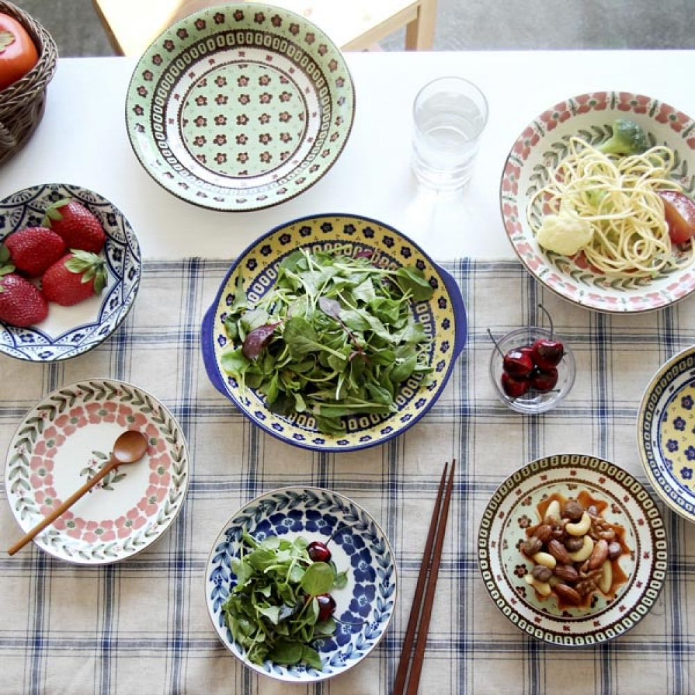 폴랜스 볼 16cm 옐로우 5P 접시 주방용품 그릇 면기 주방용품 뷔페접시 접시 그릇 그릇볼