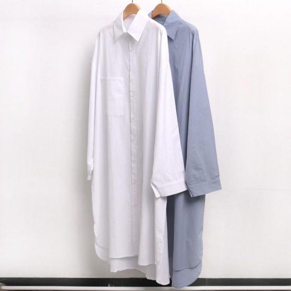 미시옷 4668L903 롱 빅포켓 셔츠 남방 IL 빅사이즈 여성의류 빅사이즈 여성의류 미시옷 임부복 완전오버롱셔츠남방