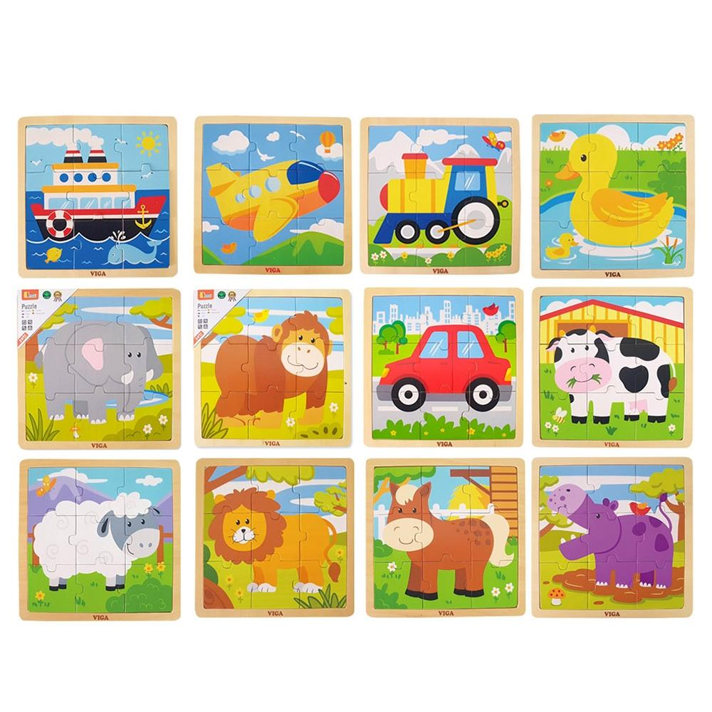 선물 2세 유아 장난감 9피스 직소 퍼즐 12종세트 조카 퍼즐 블록 블럭 장난감 유아블럭