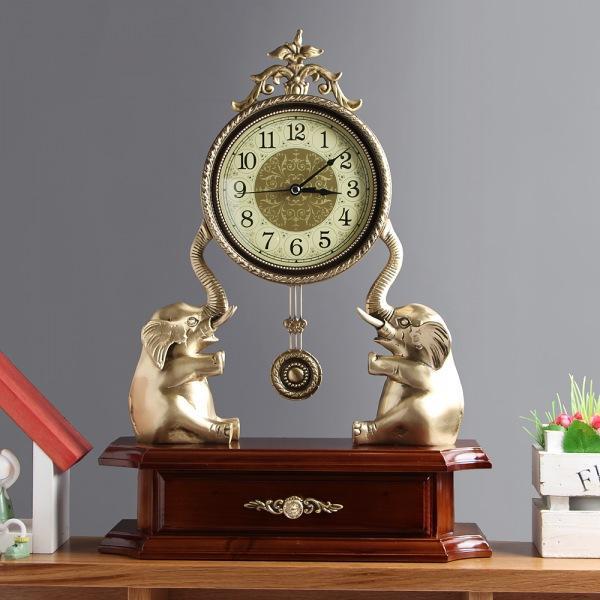 JHC컴퍼니 [아트피플-A248]청동 오리엔탈 탁상 추시계(코끼리) 벽시계 탁상시계 시계 클래식시계 엔틱벽시계