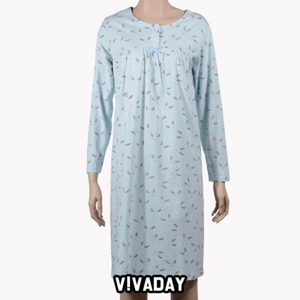 VIVADAY-SC360 토끼 패턴 홈웨어원피스 홈웨어 이지웨어 긴팔 반팔 내의 레깅스 원피스 잠옷 덧신 알라딘바지