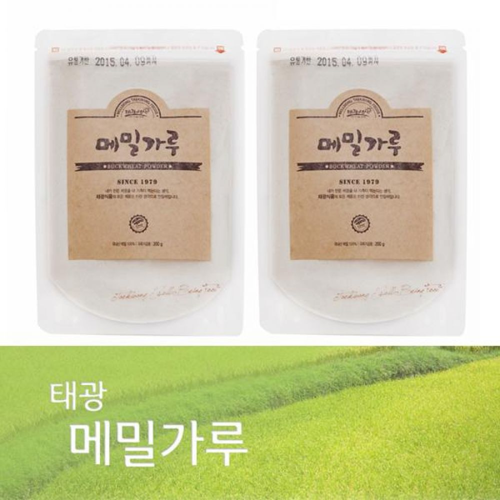 (박스단위 판매)메밀가루 1Box(300g x 40개)국내산 메밀만으로 만든 바른 먹거리 건강 곡물 간편식 잡곡 한끼