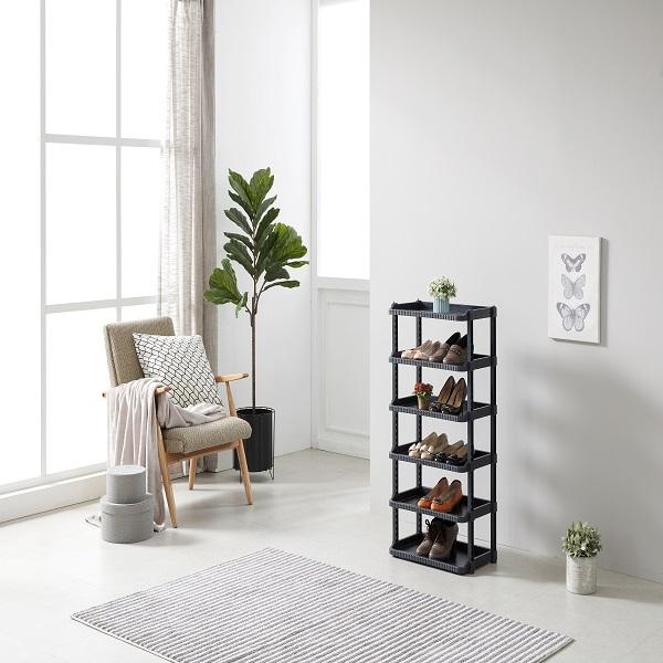 공간활용 다용도 와이드 신발장 12단