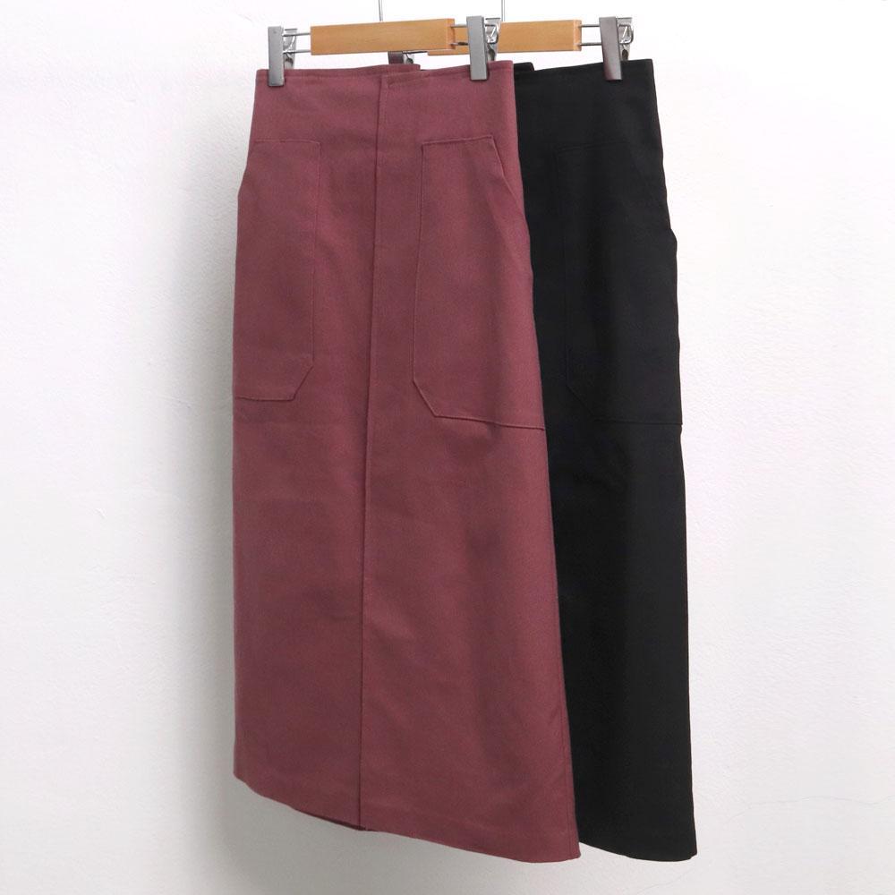 미시옷 6741L910 모리 코튼 롱 스커트 LT 빅사이즈 여성의류 빅사이즈 여성의류 미시옷 임부복 메이드포켓면스커트