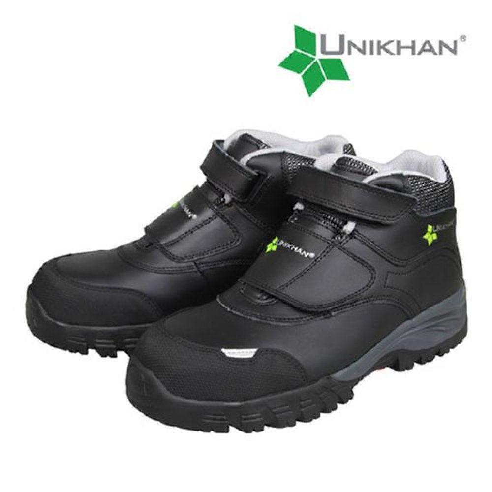 유니칸 UK-11 찍찍이 6in 보통작업용 중단화 안전화 안전화 UNIKHAN 유니칸 가죽안전화 찍찍이안전화 찍찍이작업화 현장신발