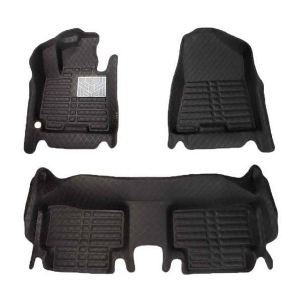 포르쉐 뉴카이엔(2011-현재) 국내산 프리미엄 체크무늬 카매트 블랙 자동차매트 자동차깔판 차량매트 자동차발매트 5d