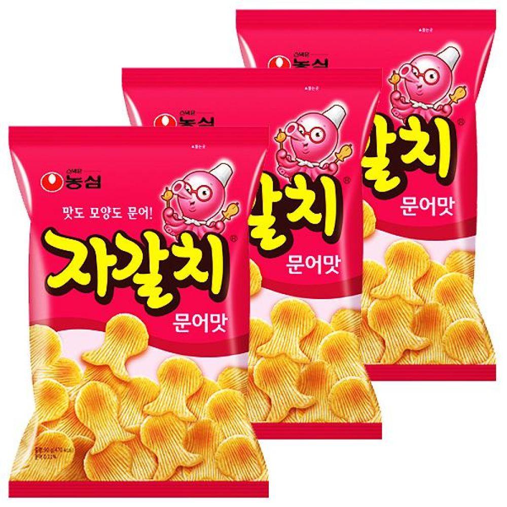 농심) 자갈치 90gx10개 문어의 맛과 향 동글동글 과자 스낵 간식 대량도매 도매