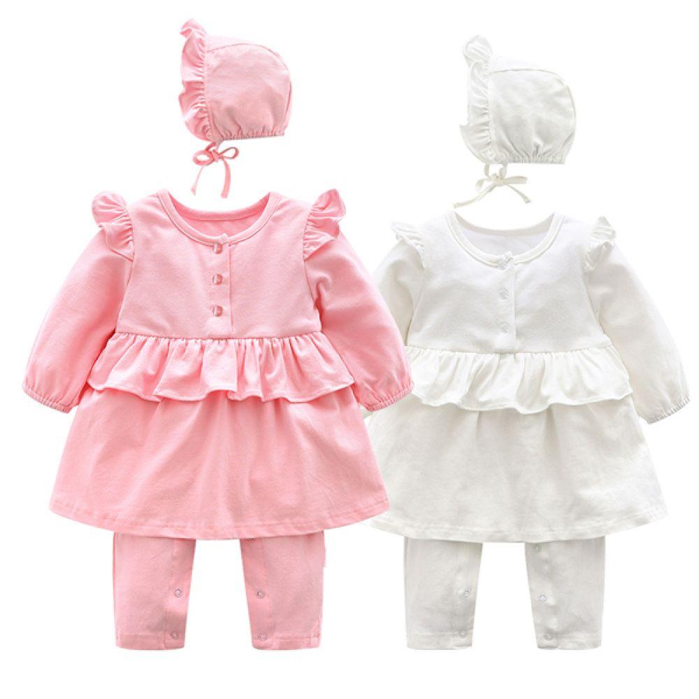 숄더 프릴 보넷 우주복(3-24개월) 203749 유아우주복 아기우주복 롬퍼 백일옷 아기옷 유아옷 신생아옷 발싸개 유아복 돌복 실내복 외출복