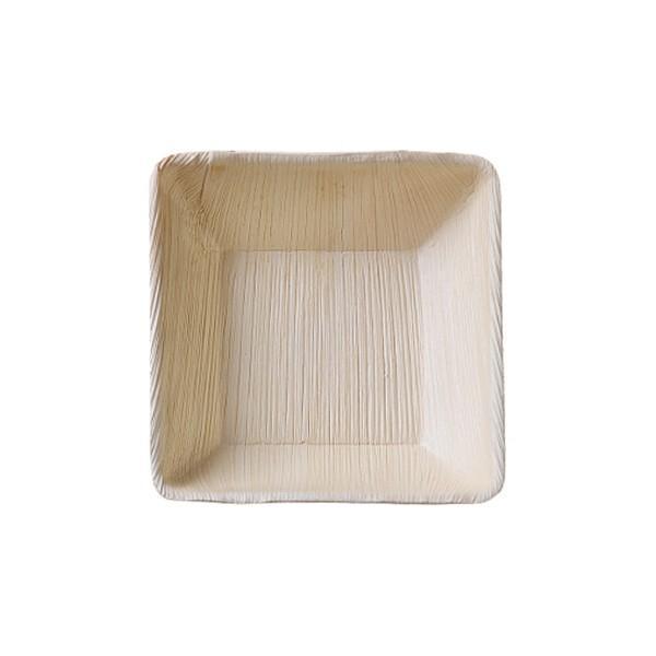 본플라 천연야자나무 13cm 일회용 사각볼 (6개 세트) 주방소품 일회용접시 피크닉 포장용기 집들이