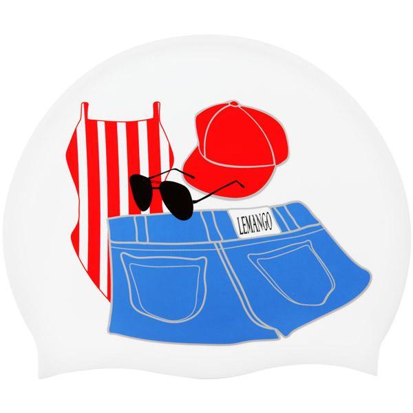 Short pants-White르망고 실리콘수모 수영모자 수영용품 수영모 수중운동용품 디자인수영모
