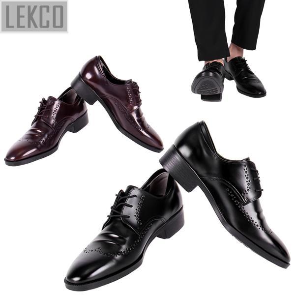 [LEKCO] 남성정장 구두 더비 럭셔리 굽 4cm 키높이 LK-180016 정장구두 신사화 수제화 수제구두 남자신발