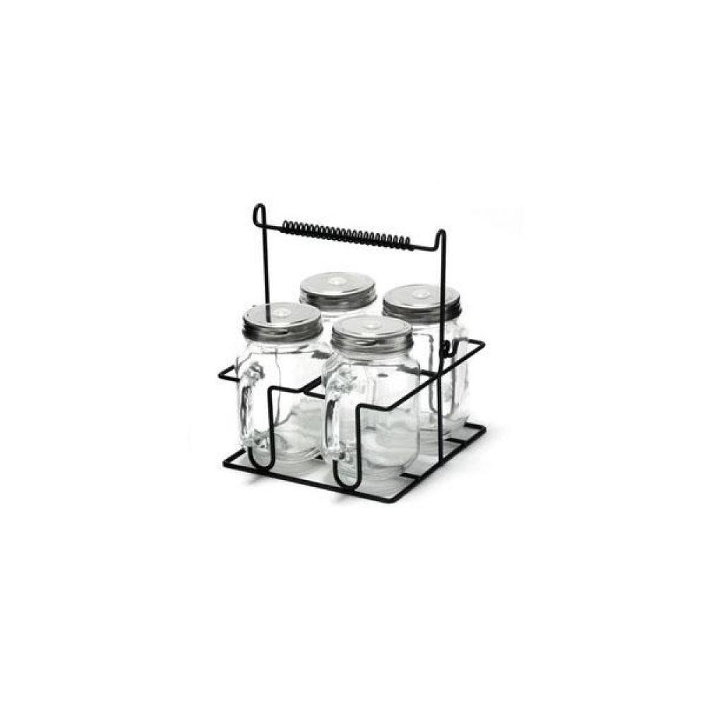앤 와이어 유리병 텀블러(G31) 5P 세트 주방 생활 도매 유리자 밀폐
