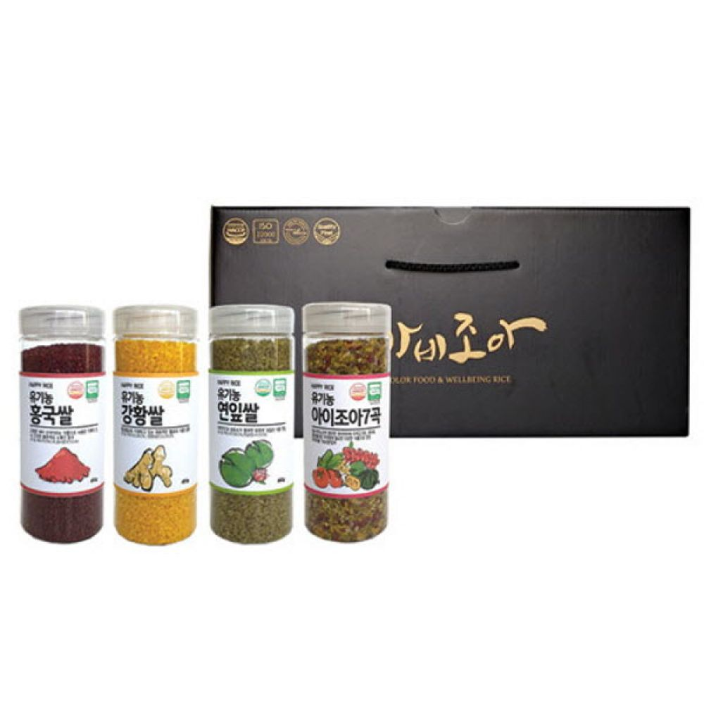 순수 자연 씻어나온 컬러 기능성쌀 4종세트 기능성쌀 씻어나온쌀 컬러쌀 칼라쌀 씻은쌀 주먹밥 초밥 초밥만들기 유부초밥 유부초밥만들기
