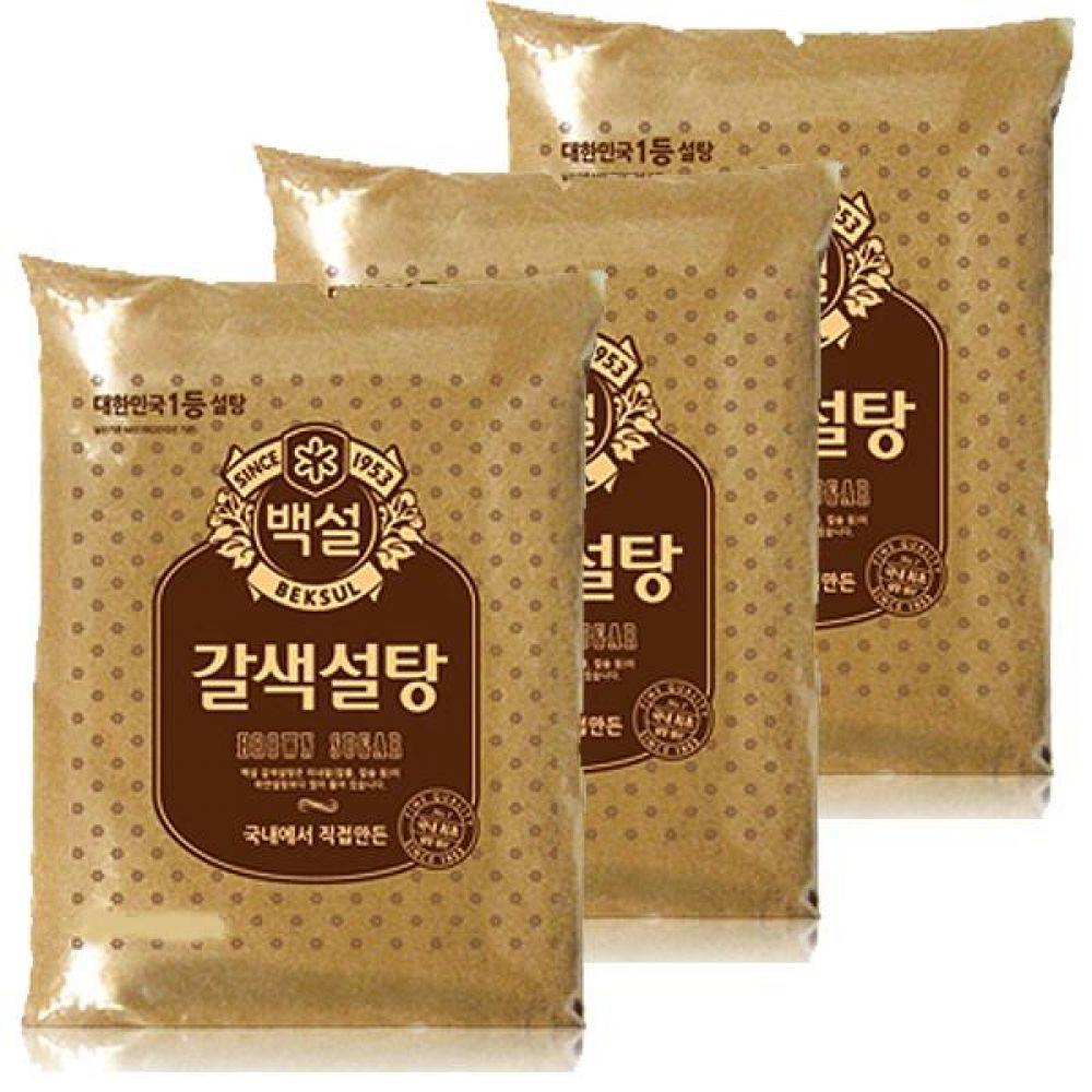 CJ)갈색 설탕 3kg x 2개 건강 단맛 커피 차 양념