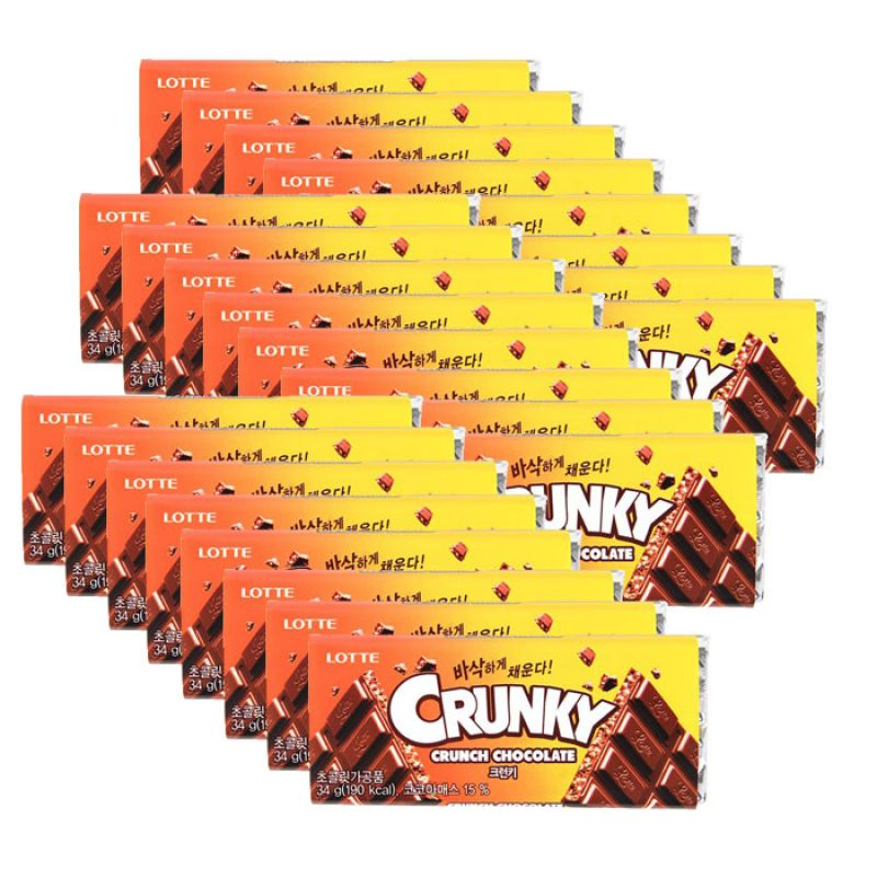 롯데제과 판크런키(34g) 24개 크런키 초콜릿 크런키초콜릿 롯데 롯데제과
