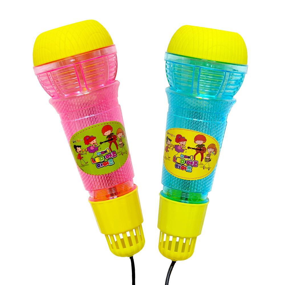 아이돌LED에코마이크(2000X4개) 장난감마이크 에코마이크 역할놀이 노래자랑 단체선물 판촉물 달란트시장