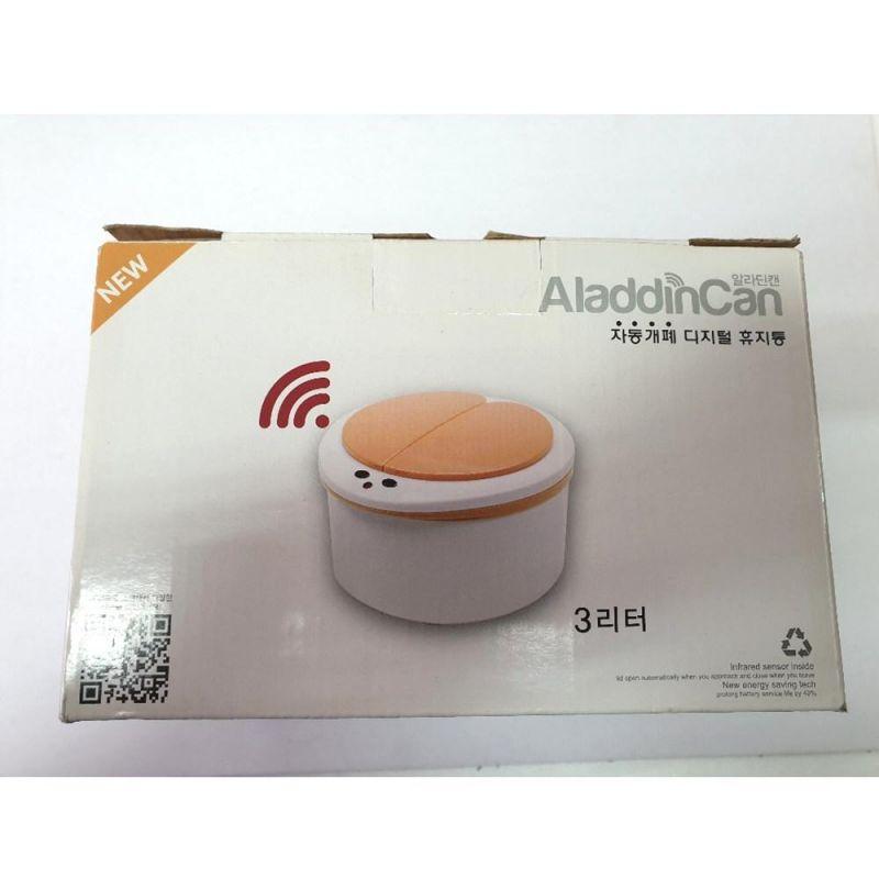 MWSHOP 알라딘캔 휴지통 3L 쓰레기통 디지털휴지통 엠더블유샵