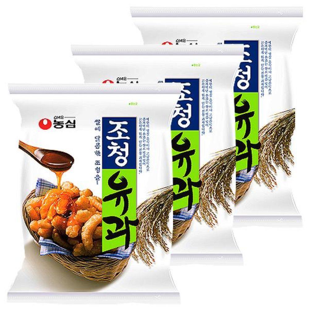 농심)조청유과 96gx10개 찹쌀 조청 쫀득 바삭 쌀과자 과자 스낵 간식 대량도매 도매