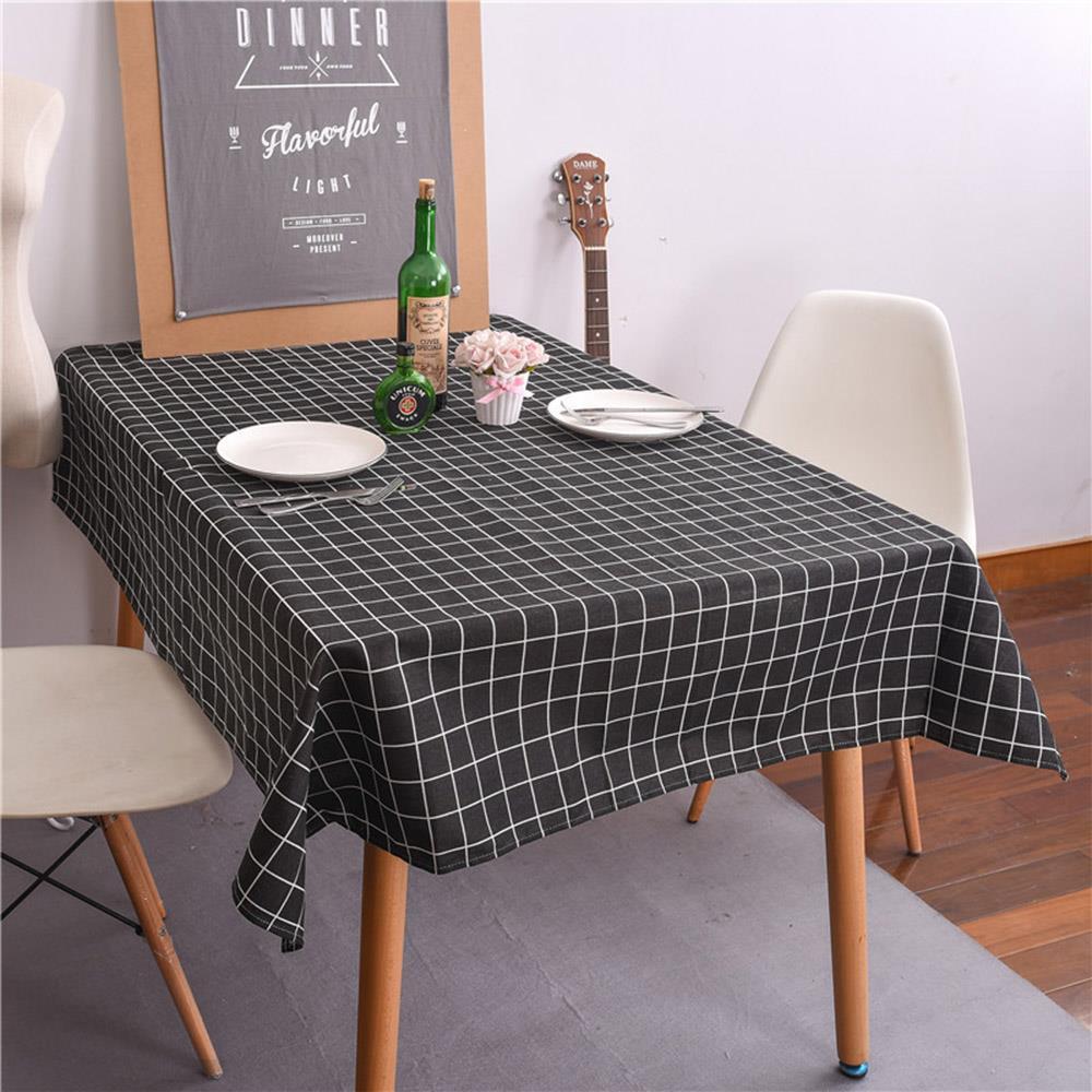 식탁보 체크 블랙 140cm 사각 식탁테이블매트 식탁테이블보 식탁러너 식탁커버 식탁테이블매트 테미블커버