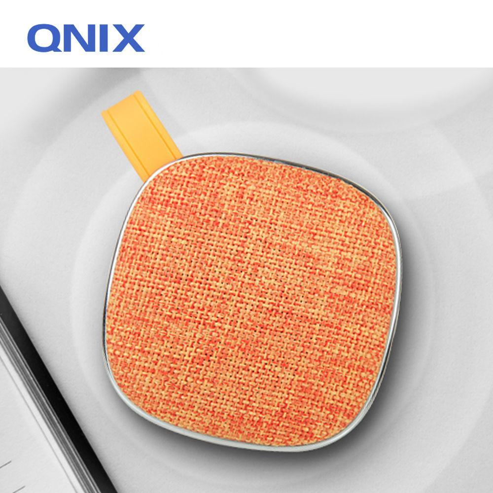 QNIX 고출력 블루투스 패브릭 스피커 (QS-2000) (오렌지) 스피커 블루투스스피커 노트북스피커 PC스피커 컴퓨터스피커