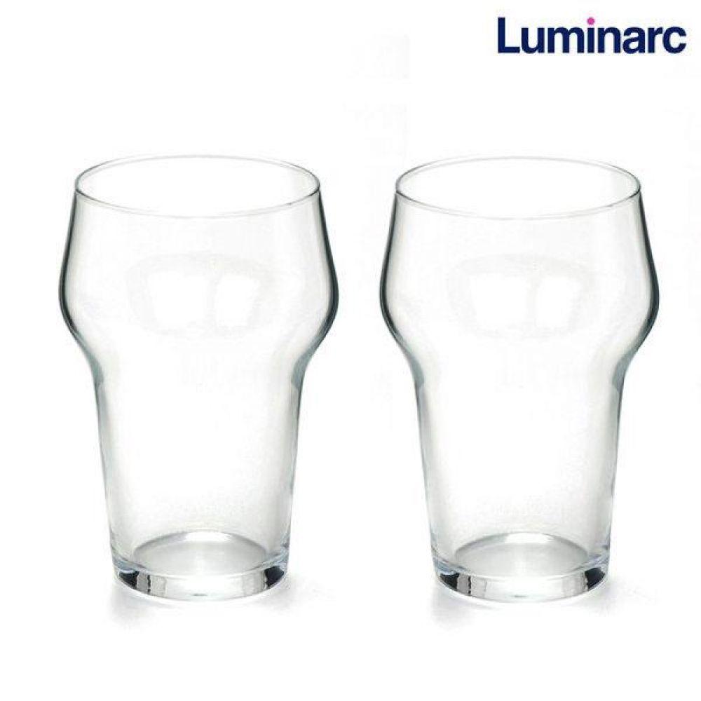 루미낙 라거맥주잔 2p (N7895) 유리컵 맥주잔 물컵 도자기컵 맥주컵