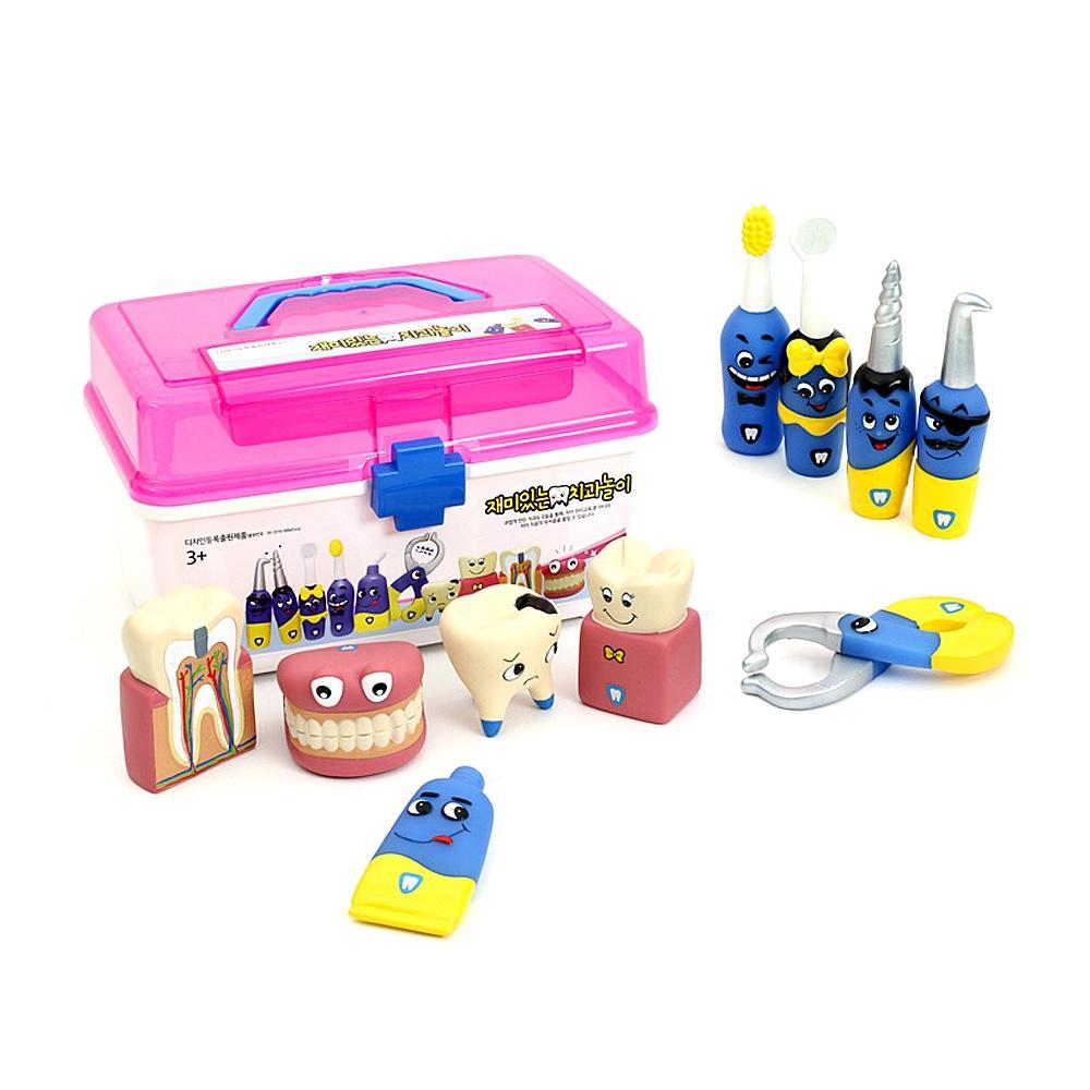 교재미포함 소프트 재미있는 치과 놀이 10종세트 완구 어린이집 유아원 초등학교 장난감