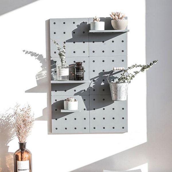 MWSHOP 다용도 DIY 조립식 타공판 인테리어 벽걸이선반 엠더블유샵