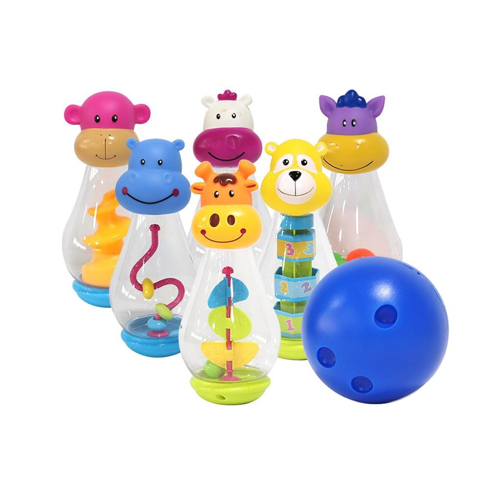 교구 어린이 투명 동물 볼링 게임 놀이 어린이집 체육 초등학교 장난감 5살장난감 3살장난감 4살장난감