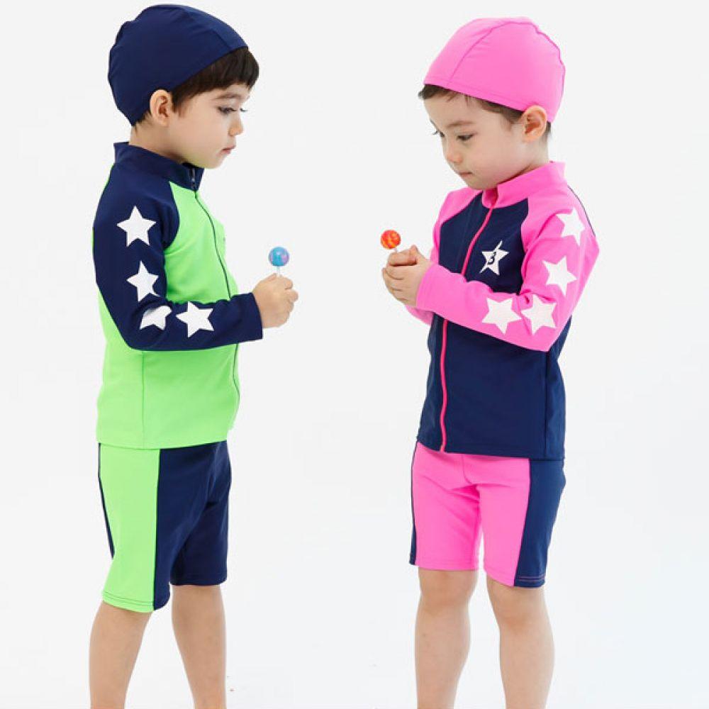 신상 슬리브스타 래쉬가드(2-14호)203532 플랩캡 수영복 유아수영복 전신수영복 수영복세트 유아래쉬가드 엠케이 물놀이용품